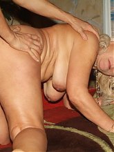 Remy looks amazing for her age and here she hooks up with a hunk and gets screwed doggy style