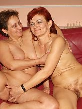 Insanely hot lesbian show off with mature babes Steph And Julianna rubbing their cunts