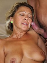His gorgeous mother in law seduces him and he fucks her mature pussy until wife comes home