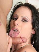 Moxie Madden is a horny MILF in stockings dishing out her pussy to the guy who lives next door